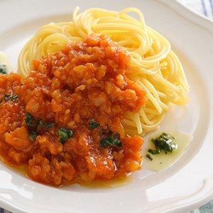 マダラのフリットと夏野菜のスパイシートマトソース